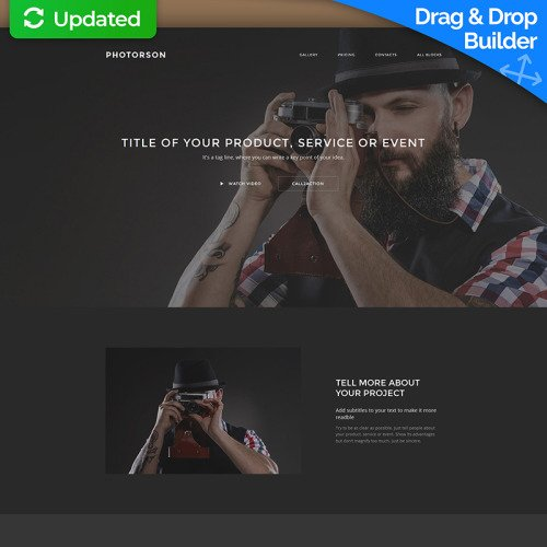 Photorson - Landing Page Template based on Bootstrap