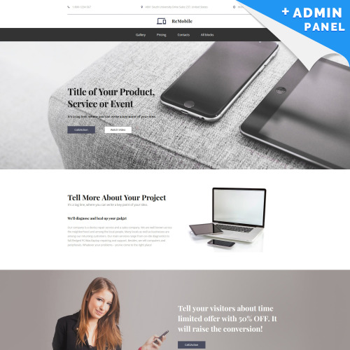 ReMobile - Landing Page Template based on Bootstrap