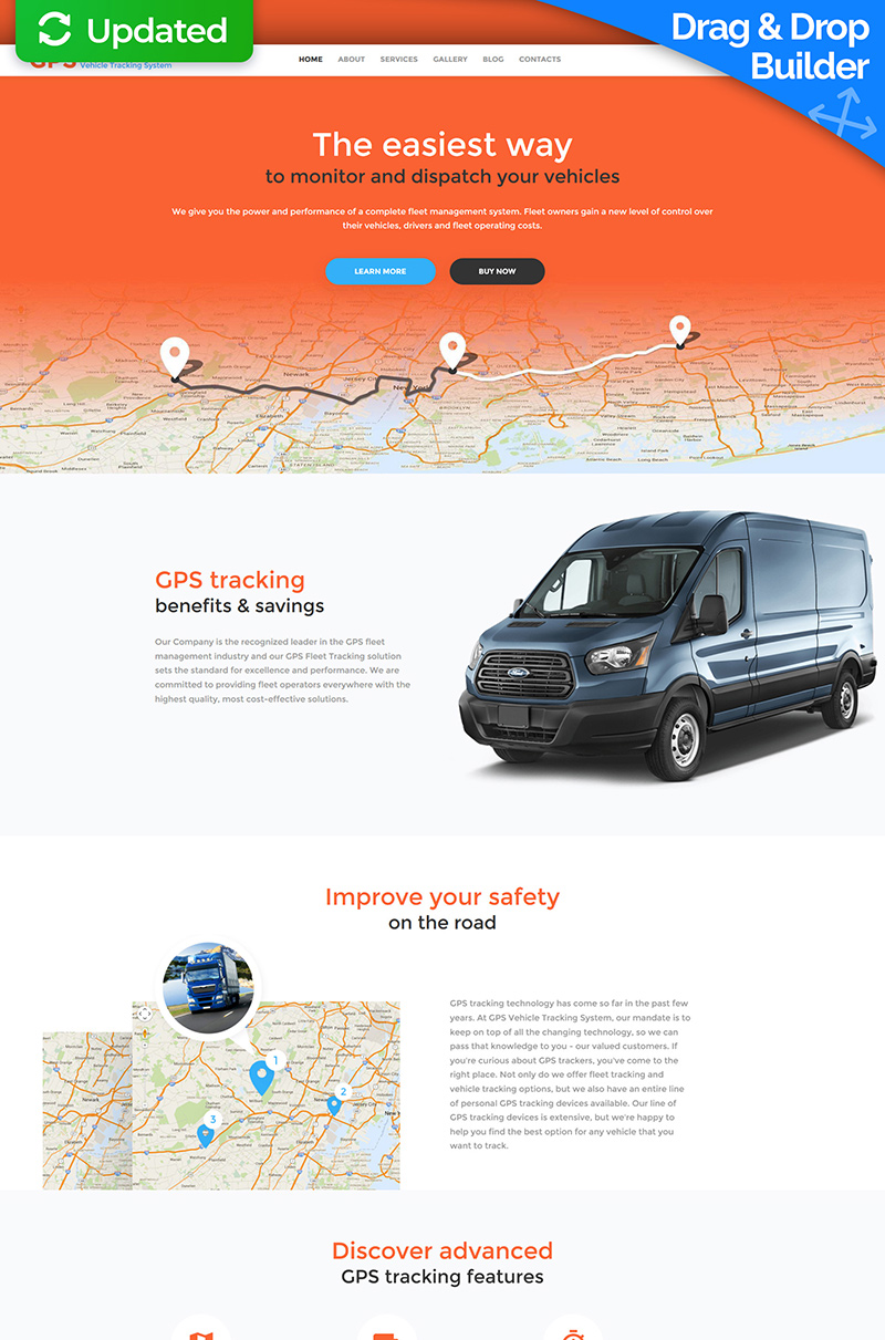 Responsives Moto CMS 3 Template für Verkehrswesen #59225
