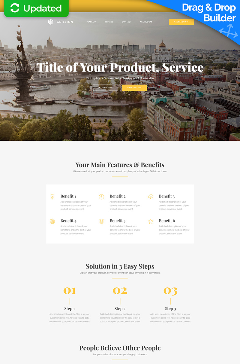 Responsivt Landing Page-mall #59235
