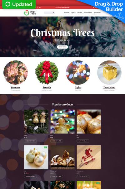 Christmas Responsive MotoCMS Ecommerce šablona