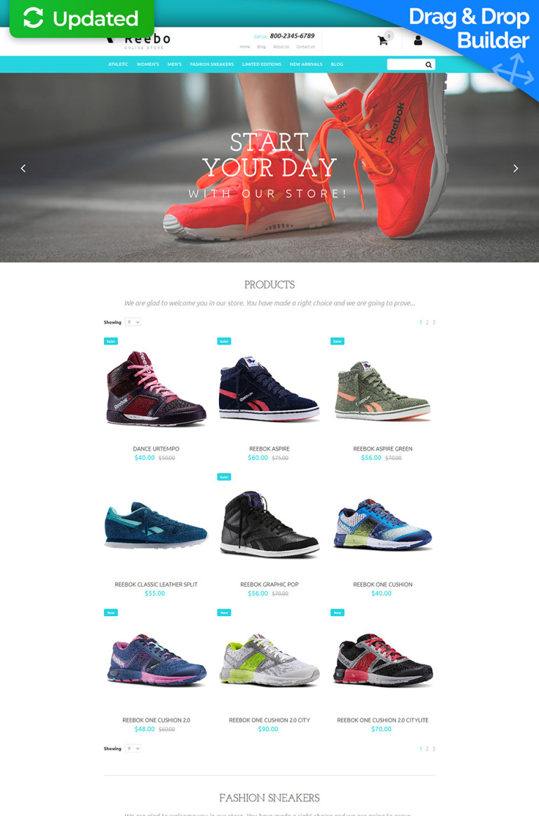 Shoe Store Responsive MotoCMS Ecommerce Template New Screenshots BIG