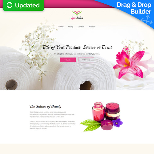 Spa Salon - Landing Page Template based on Bootstrap