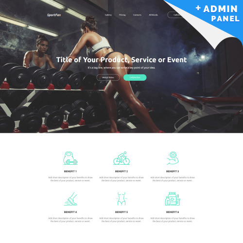Sport Fan - Landing Page Template based on Bootstrap