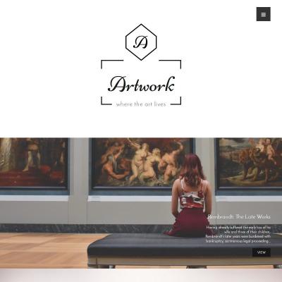 Plantillas WordPress para Sitios de Galerías de Arte