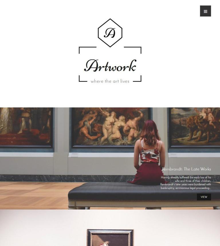 Tema de WordPress #59200 para Sitio de Galerías de arte