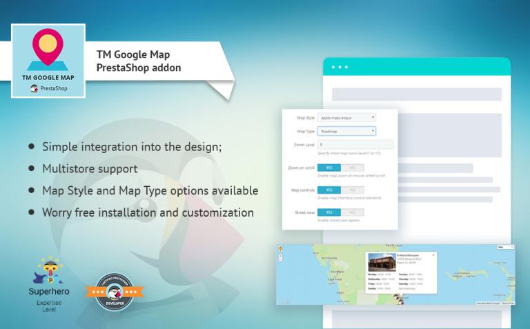 TM Google Map PrestaShop Module New Screenshots BIG