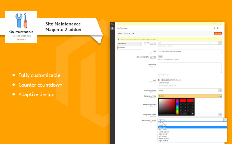 TM Site Maintenance Magento Extension New Screenshots BIG
