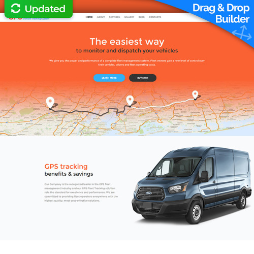 GPS Vehicle Tracking System - MotoCMS 3 Template based on Bootstrap