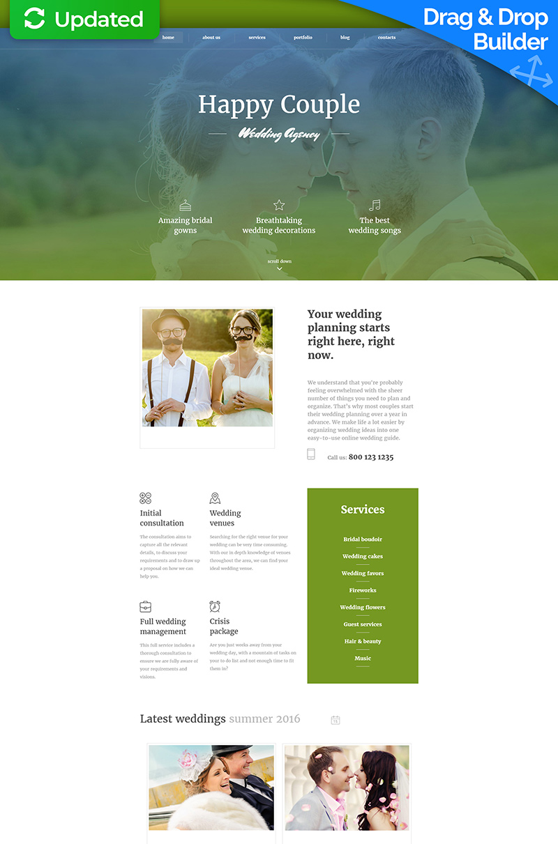 wedding planner responsive moto cms 3 template your
