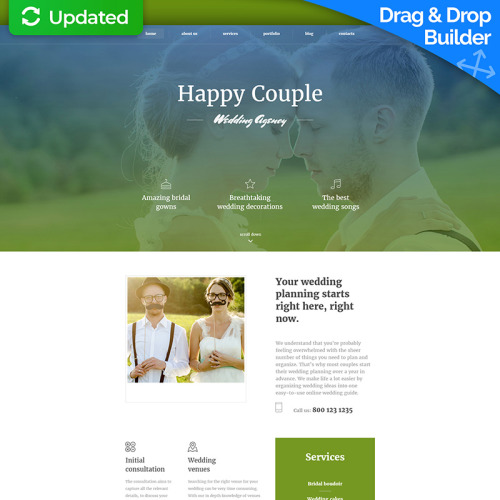 Happy Couple - MotoCMS 3 Template based on Bootstrap