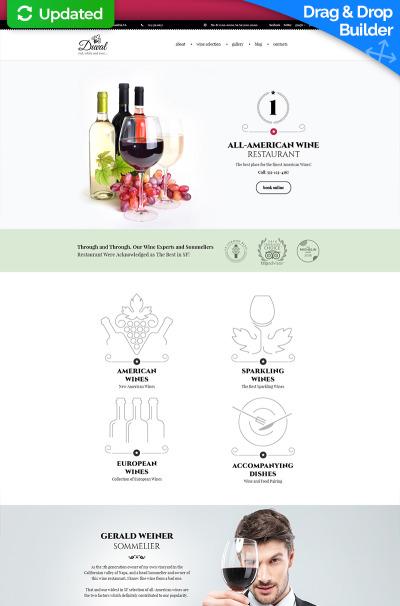 Wine Responsive Moto CMS 3 Template #59230