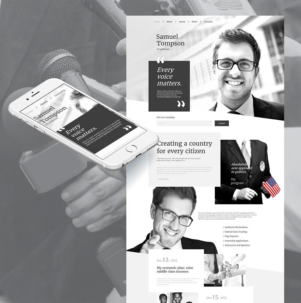 Samuel Tomson HTML Website Template - image