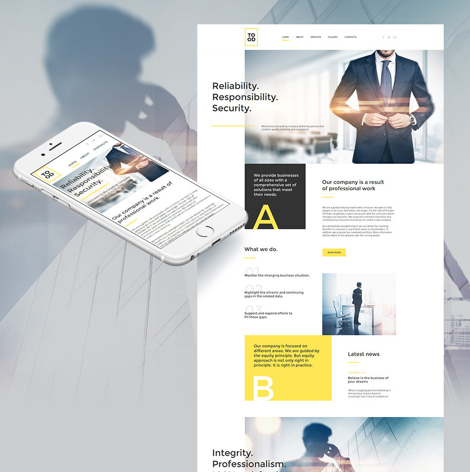 Tood HTML Website Template - image