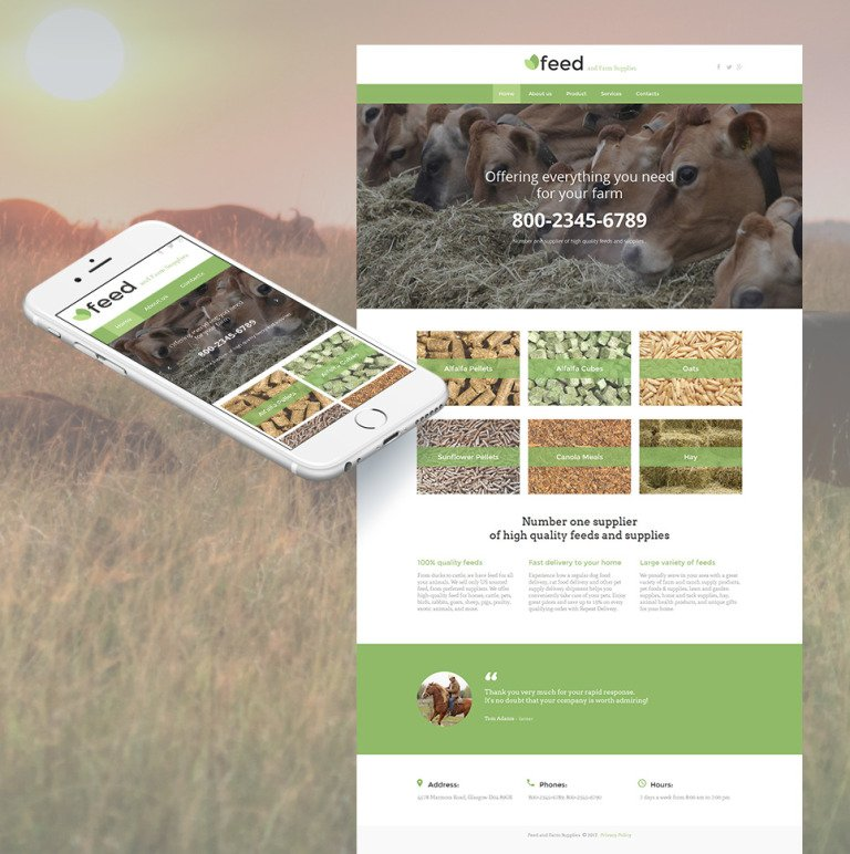 Farm Moto CMS HTML Template New Screenshots BIG
