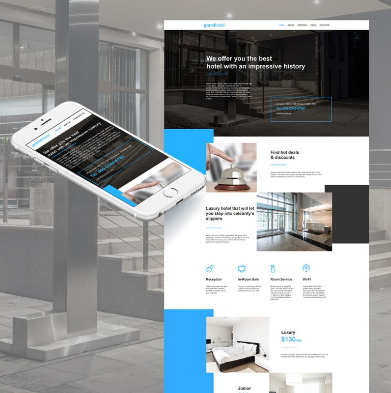 Hotels Moto CMS HTML Template New Screenshots BIG