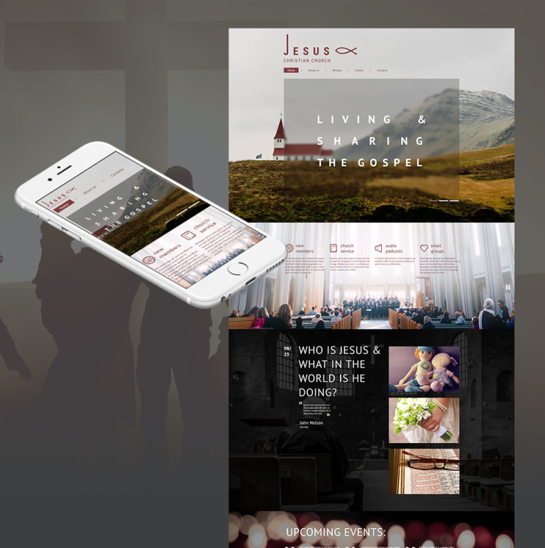 Jesus - Christian Church Moto CMS HTML Template New Screenshots BIG
