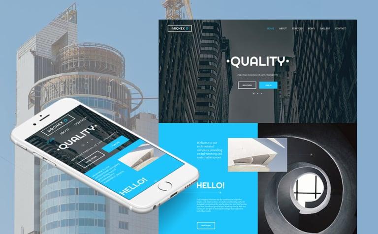 Moto CMS HTML Vorlage #59305 für Architektur