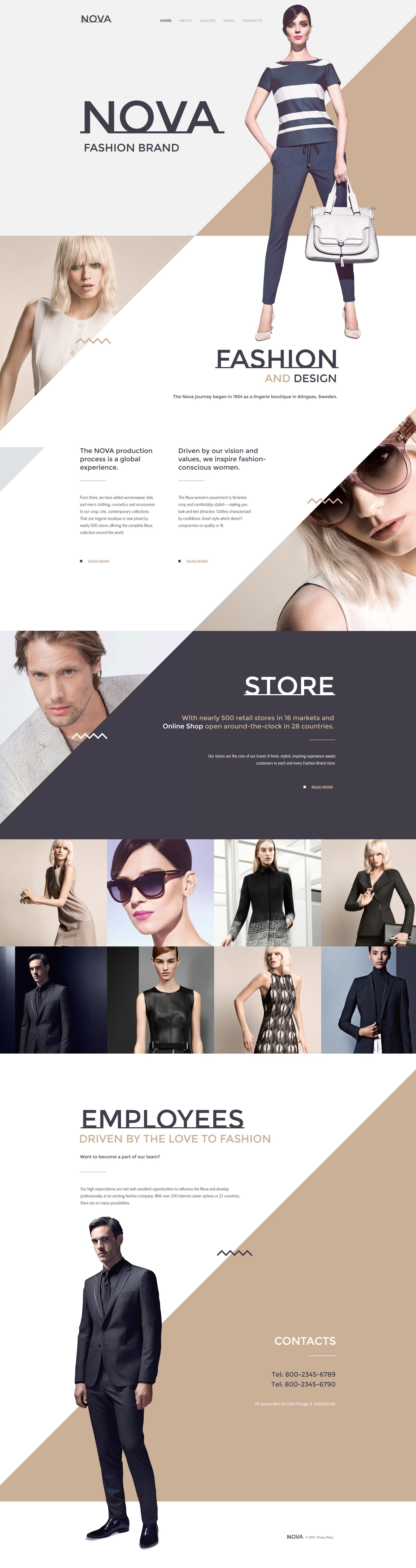 """Nova - Fashion"" modèle Moto CMS HTML Premium #59307"
