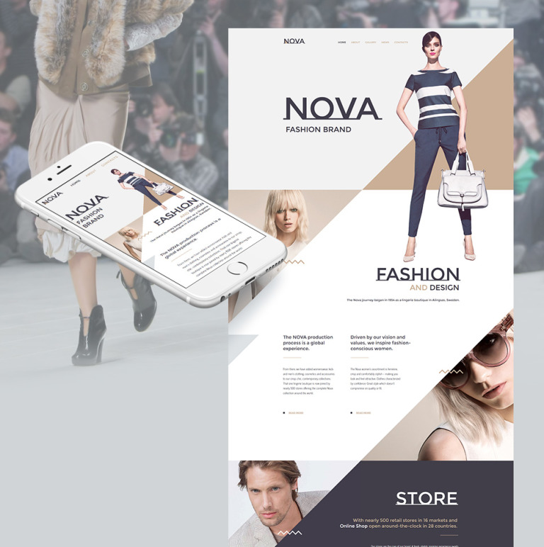 Nova - Fashion Moto CMS HTML Template New Screenshots BIG