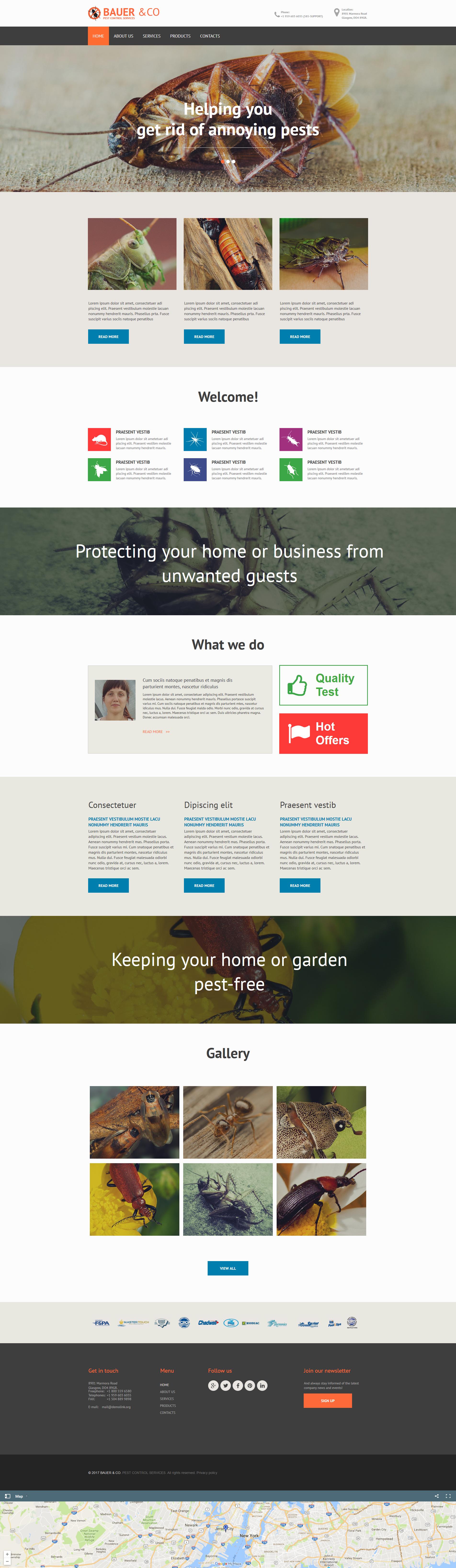 Pest Control Moto CMS HTML Template