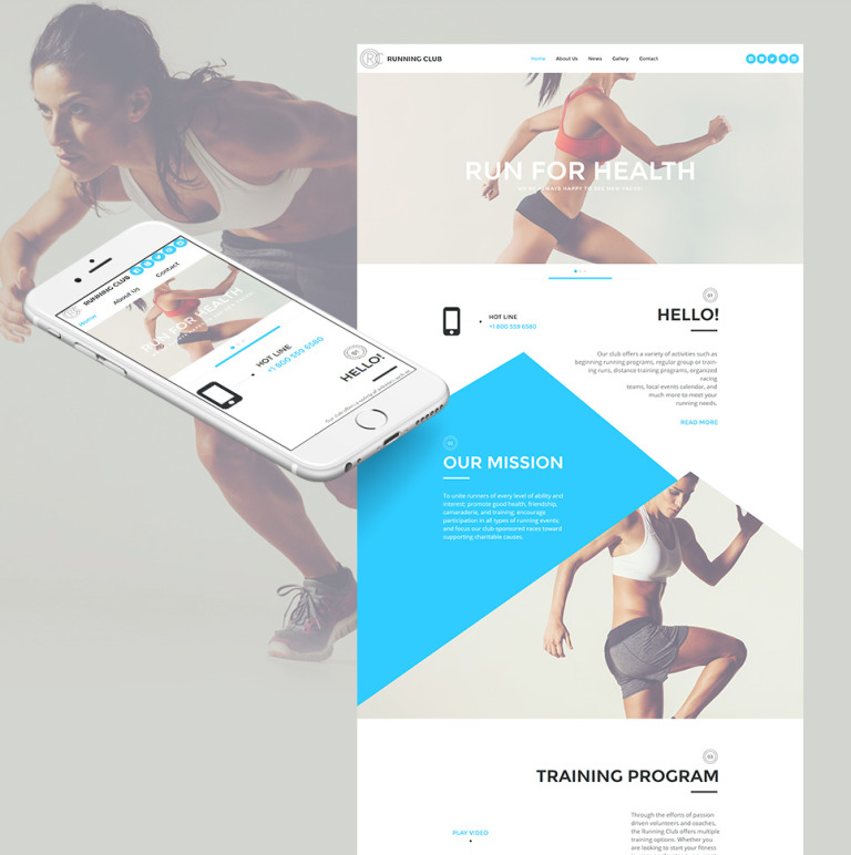 Running Moto CMS HTML Template New Screenshots BIG