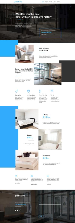 Szablon Moto CMS HTML #59302 na temat: hotele