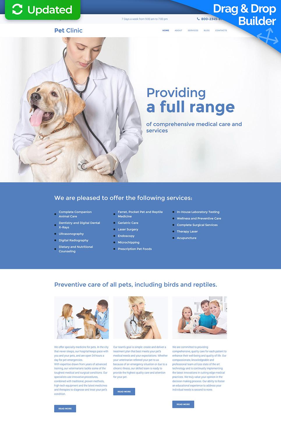 Pet Clinic Responsive Responsive Website Template - image