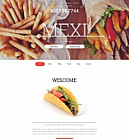 Cafe & Restaurant Moto CMS 3  Template 59423