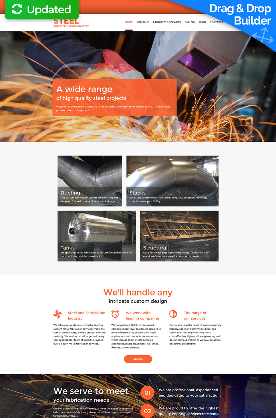 Steel Company Responsive Website Template - image