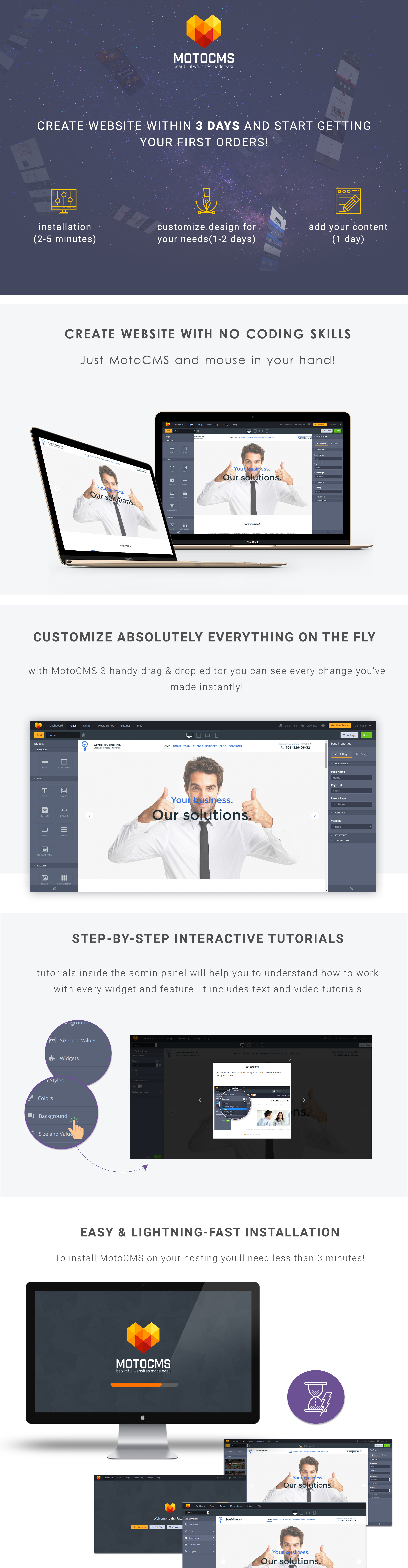 Coprorational Inc  Responsive Moto CMS 3 Template