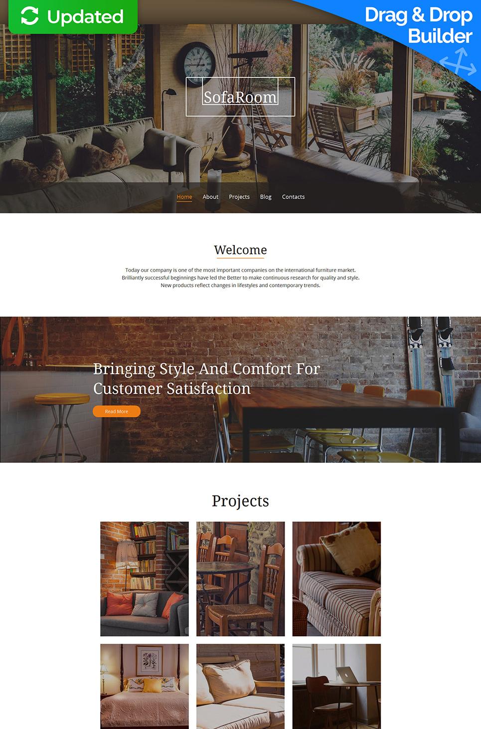 Sofa Room Responsive Website Template - image
