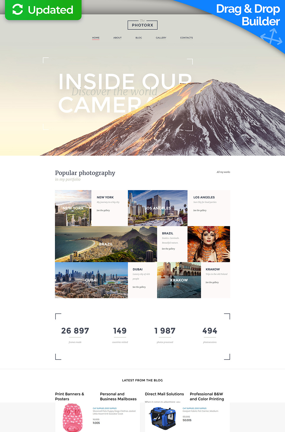 The Photorx Responsive Website Template - image