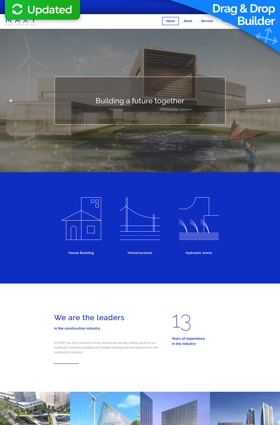 Maxy Responsive Website Template - image