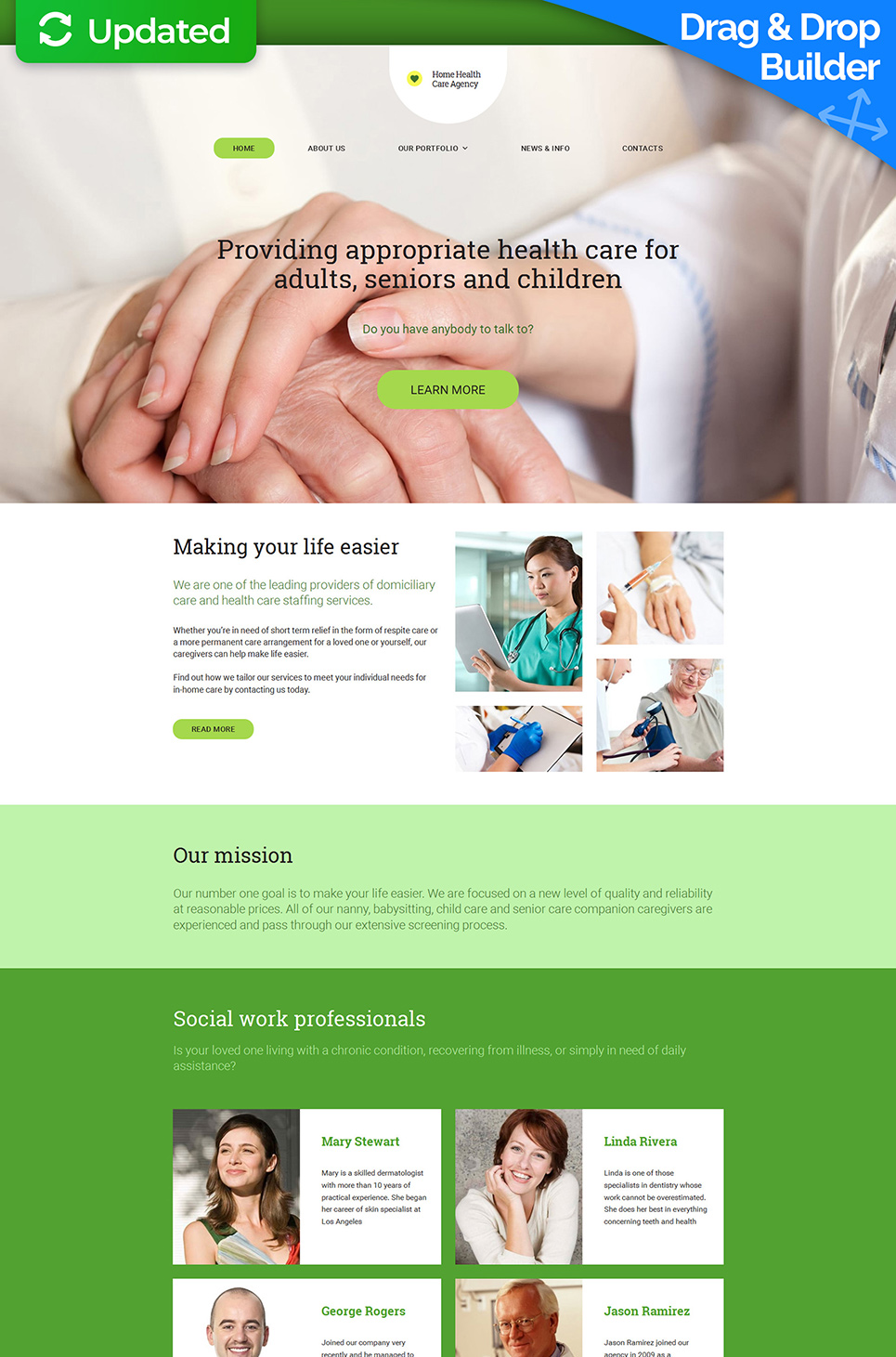 Home Health Responsive Website Template - image