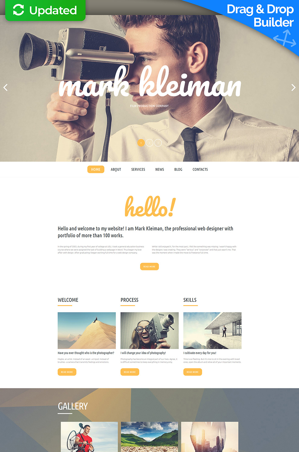 Mark Kleiman Responsive Website Template - image
