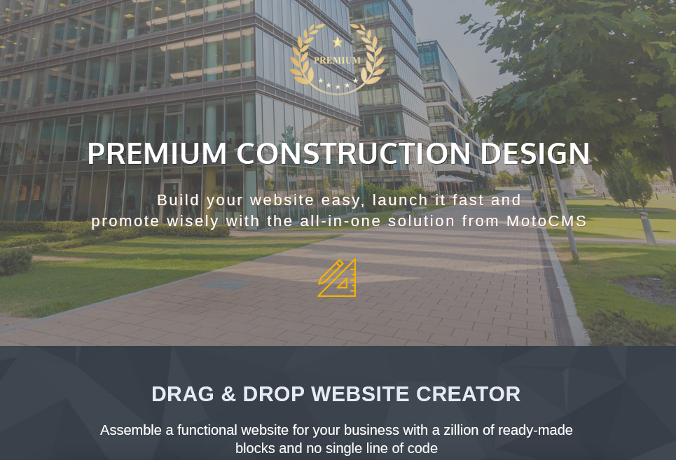Createso - Civil Engineering Premium Moto CMS 3 Template