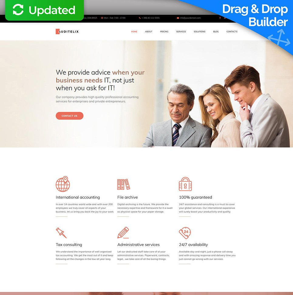 Accounting Services Responsive Web Theme - image