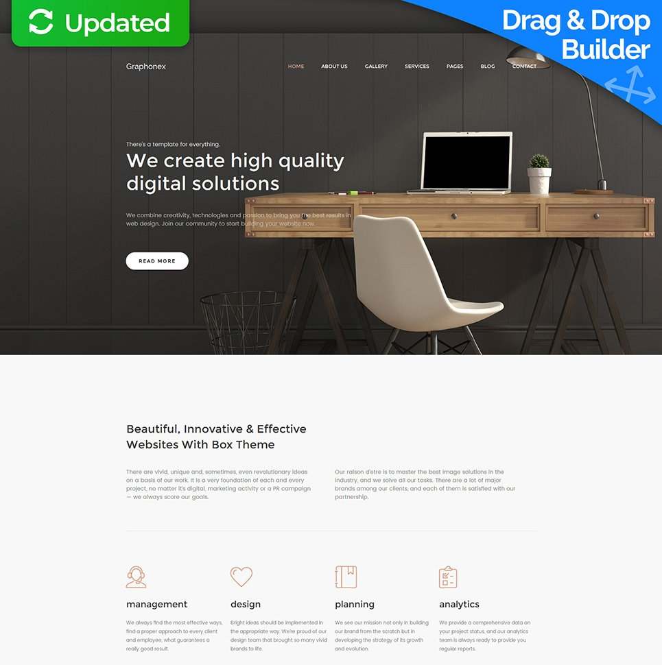 Graphonex Responsive Website Template - image