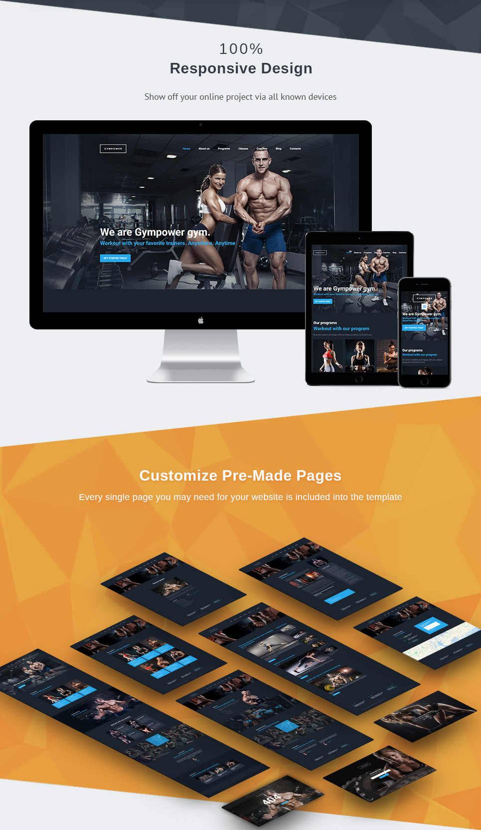 GymPower - Fitness & Bodybuilding Premium Moto CMS 3 Template