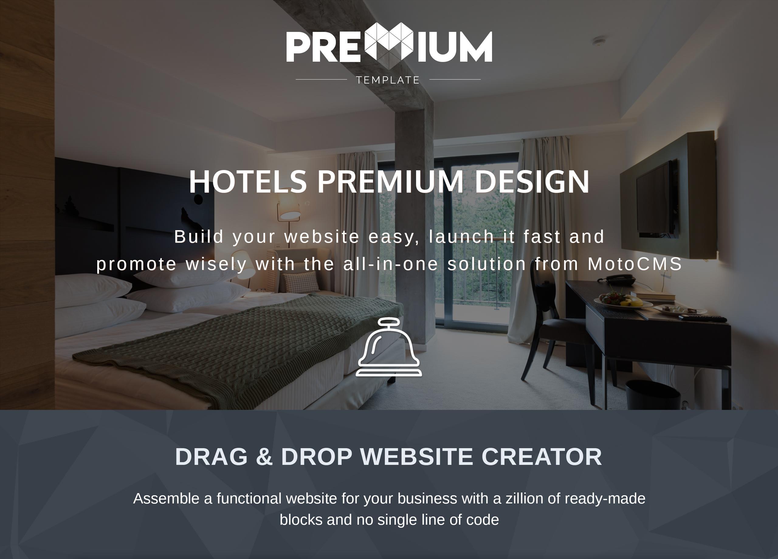 Resortex - Hotels Premium Moto CMS 3 Template