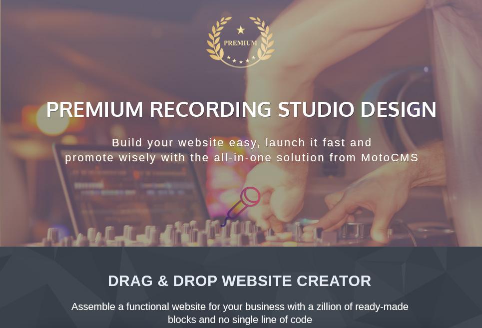 Recordex - Recording Studio Premium Moto CMS 3 Template