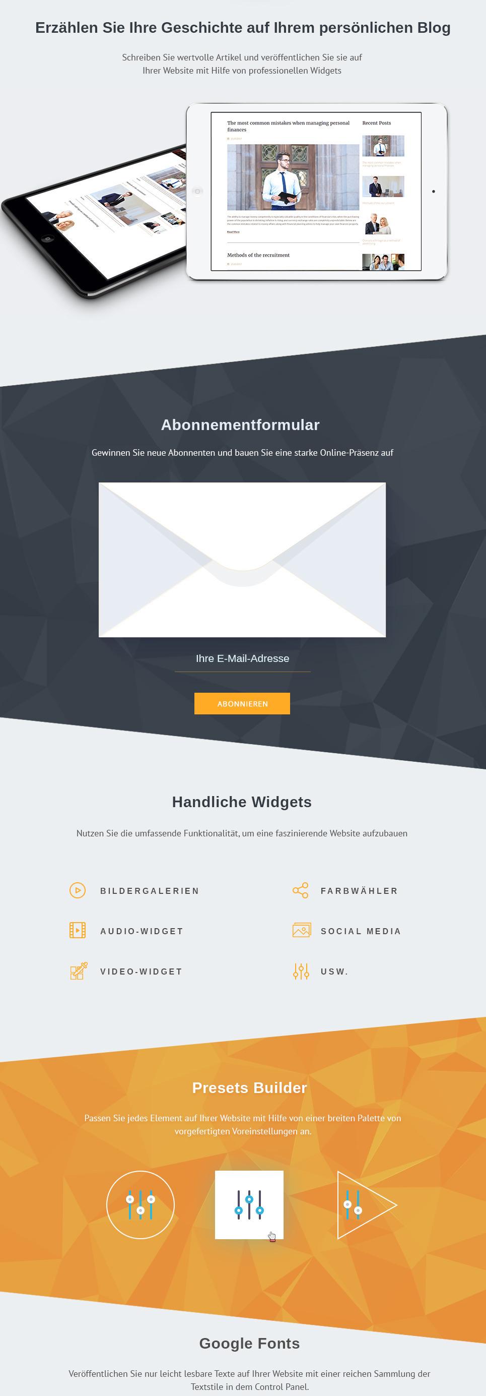 Großartig Html5 Persönliche Website Vorlage Ideen - Beispiel ...
