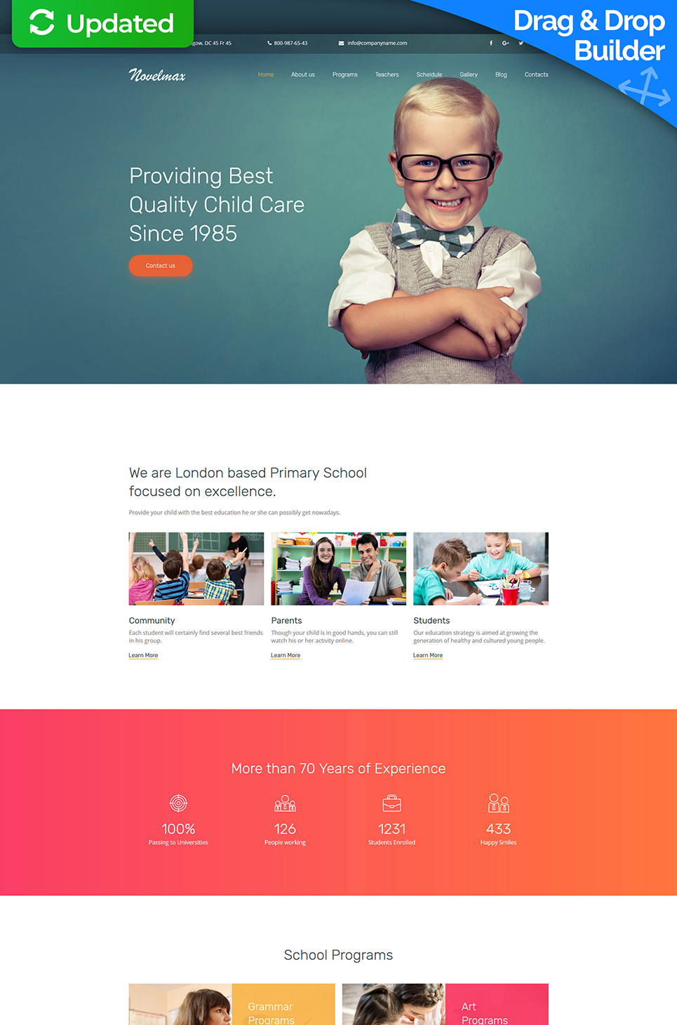 Novelmax Responsive Website Template - image