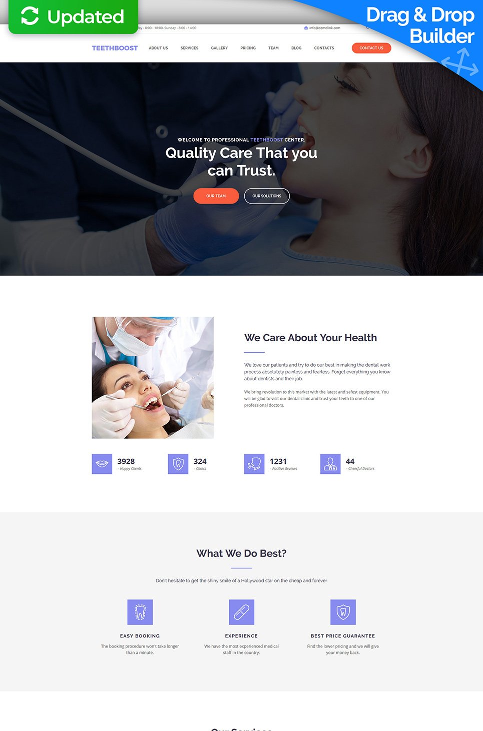 TeethBoost Responsive Website Template - image