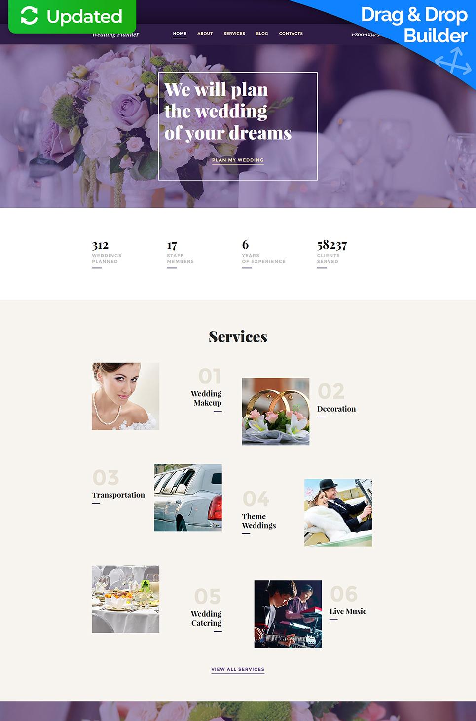 Wedding Planning Responsive Website Template - image