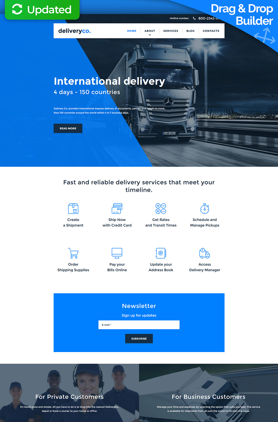 Delivery Co Responsive Responsive Website Template - image