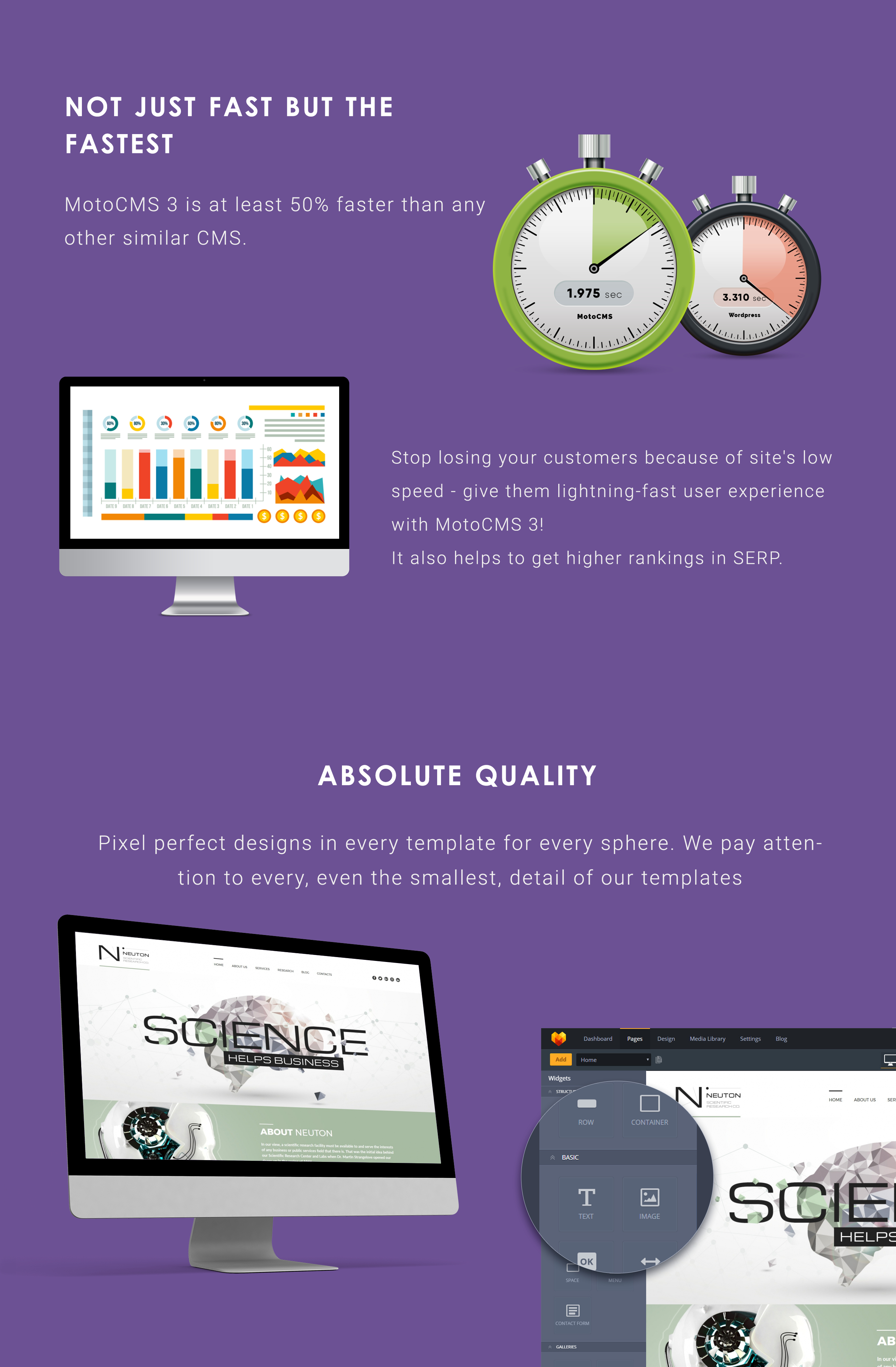 Science Web Moto CMS 3 Template