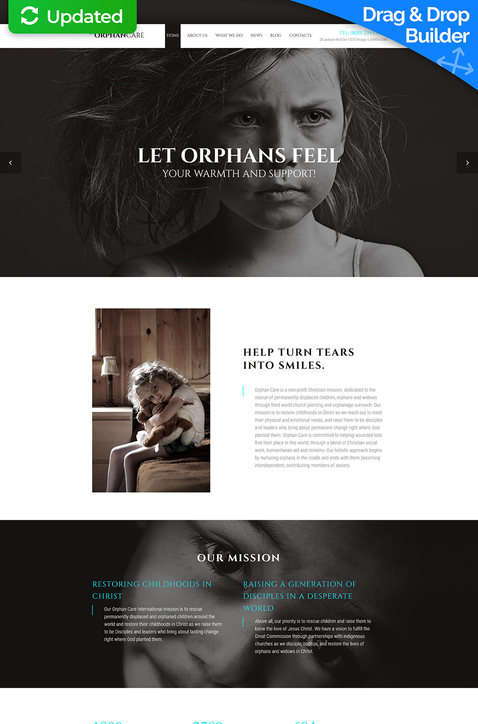 Orphan Care Responsive Website Template - image