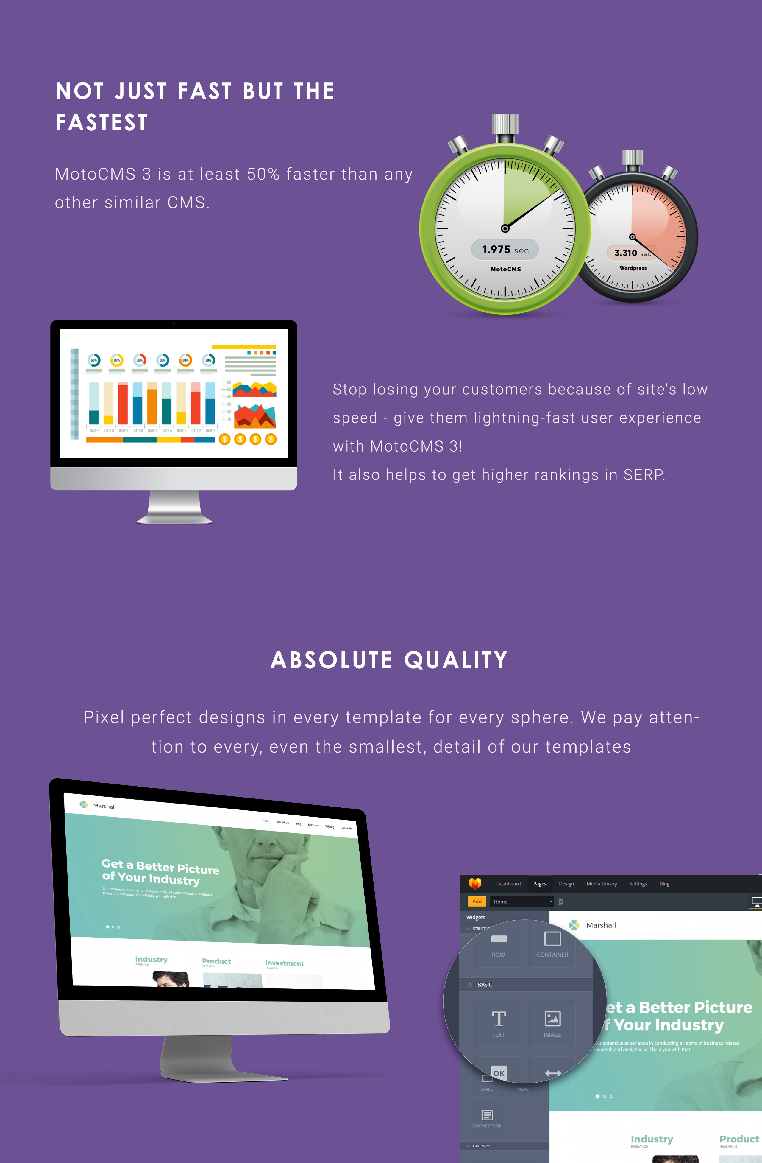 Business Analysis and Market Research Agency Moto CMS 3 Template